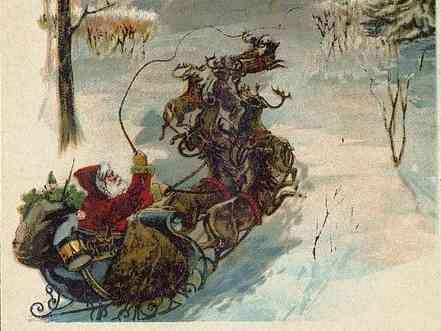 Illustrazione di Babbo Natale in un'edizione del 1870 del libro