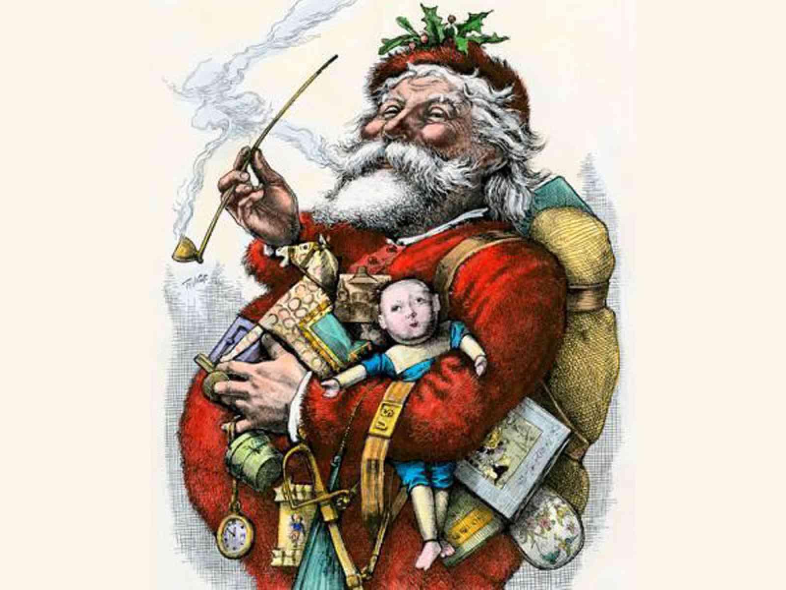 Babbo Natale in un'illustrazione di Thomas Nast nel 1881